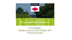 In Planung: Wanderwoche der Ortsgruppe Baden-Baden @ folgt | Bad Wildungen | Hessen | Deutschland